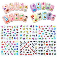 Funky Patterns Nail Art Nail Stickers (30 sheets)