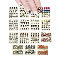 Skulls Water Slide Nail Art Nail (15 sheets/200+ Nail Decals)
