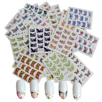 Flowers French Tip Water Slide Nail Art Nail Decals (44 sheets/600+ Nail Decals)