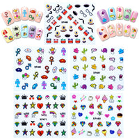 Funky Patterns Nail Art Nail Stickers (10 sheets)