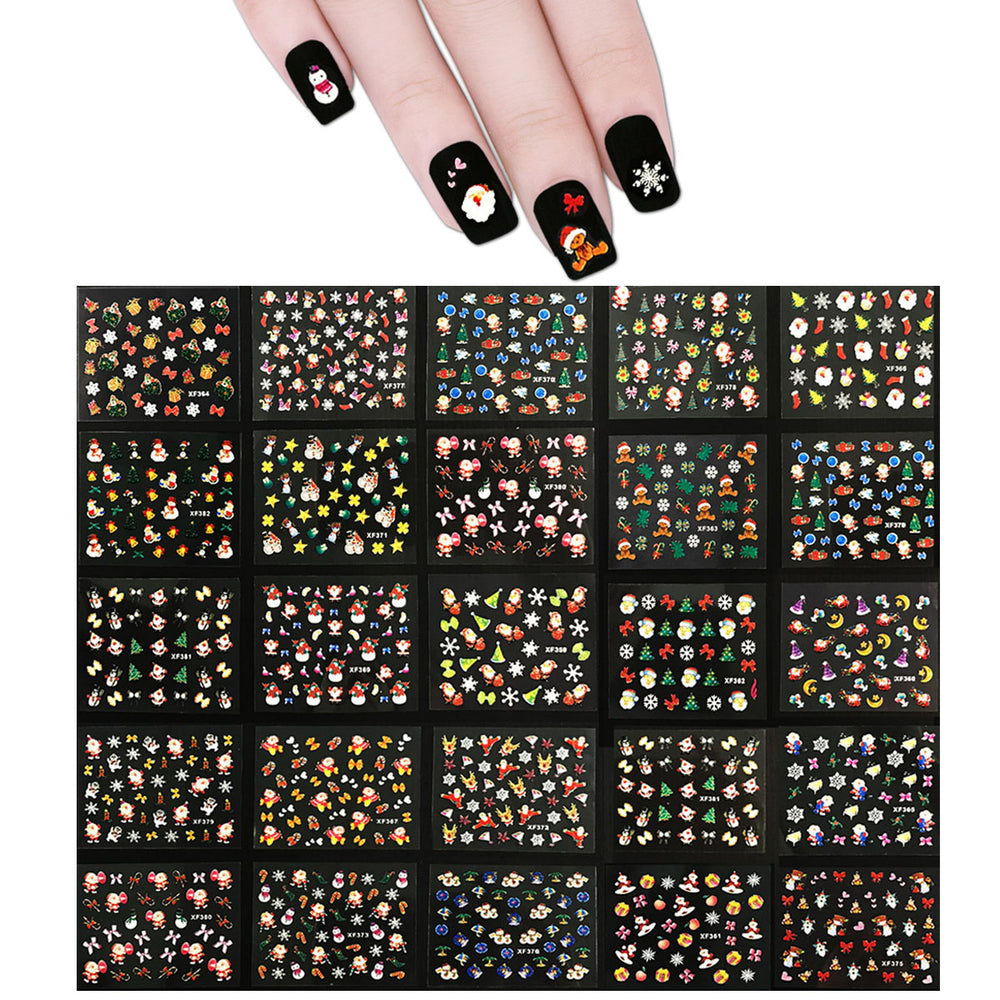 Kung Fu Santa Christmas Nail Art Nail Stickers (50 sheets)