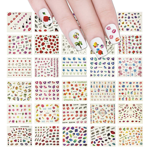 Beauty Nail Art Nail Stickers (50 sheets/2000+ Nail Decal Stickers)