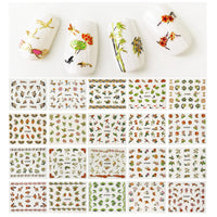 Cherry Blossoms Asian Inspired Nail Art Foil Nail Stickers (50 sheets)