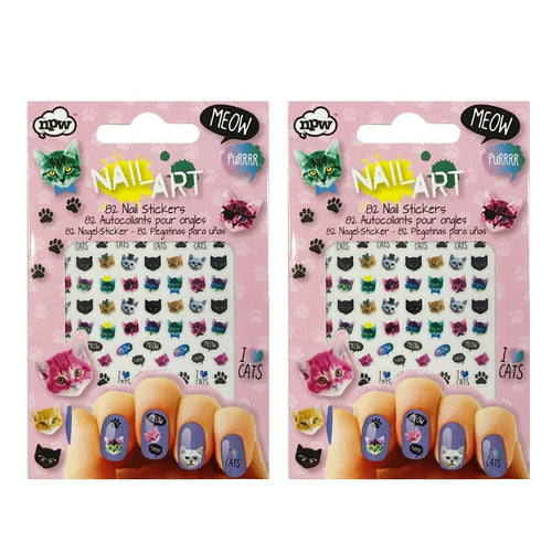 Cat Crazy Cat Lover Nail Art Nail Stickers (164 stickers)