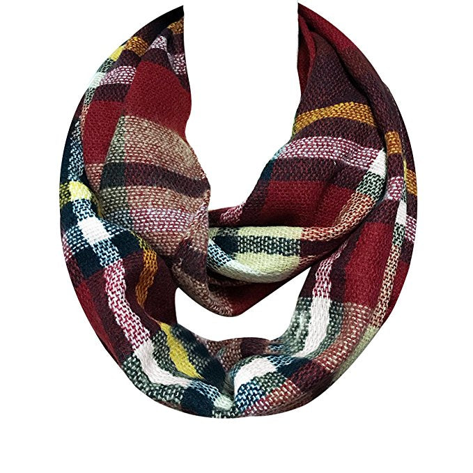 Infinity Plaid Scarf & Beanie Set