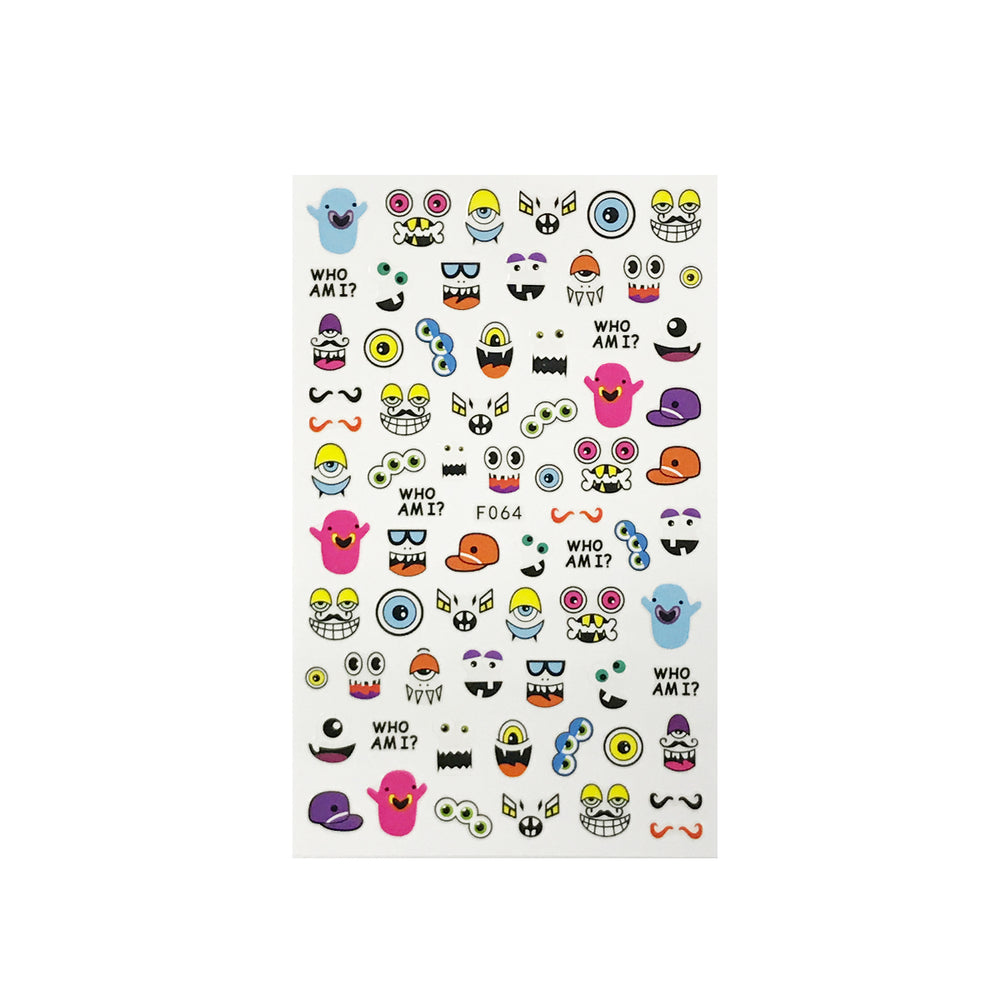Emoji & Friends Nail Art Nail Stickers (4 sheets)