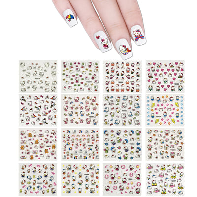 Kitty Nail Art Nail Stickers (24 sheets)