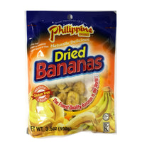 Philippine Brand Dried Bananas, 3.5oz/100g