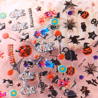 24 Sheets Halloween Nail Sticker Set Nail Art Set Ghost Stickers Bat Nail Art