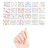 24 Sheets Butterfly Nail Stickers Set Nail Art
