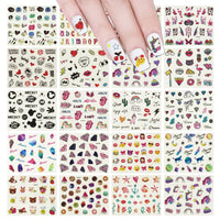 20 Sheets Rainbow Unicorn & Friends Water Slide Nail Art Nail Decal Set Water Transfer Nail Art Sheets