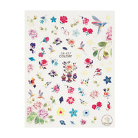 Blooming Flowers & Birds Nail Art Flower & Birds Nail Stickers (3 sheets)