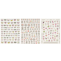 Facial Expressions Nail Art Face Expressions Nail Stickers (3 sheets)