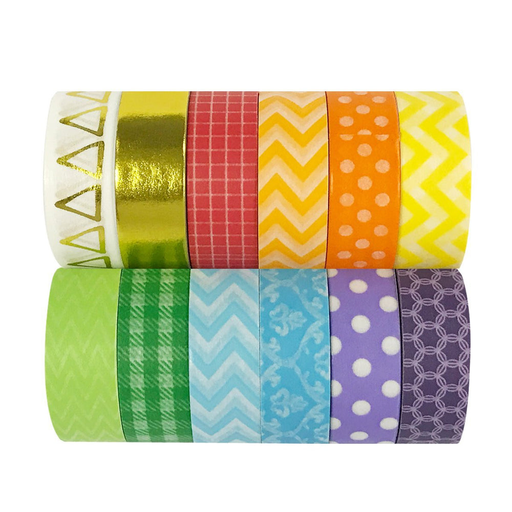 Rainbow Washi Tapes, set of 12