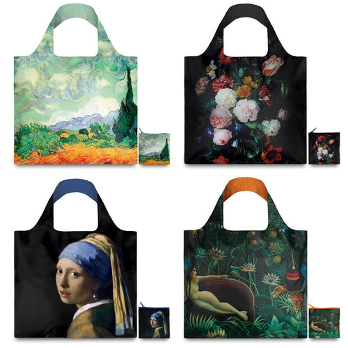 LOQI Museum 1 Collection Pouch Reusable Bags, set of 4