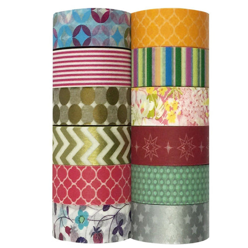 Multi-designs Washi Tapes Set (ADSET17), set of 12