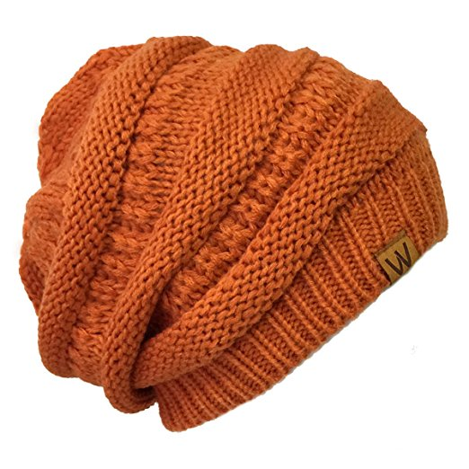 Thick Knit Slouchy Beanie for Men & Women