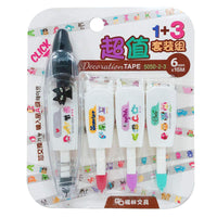 Pets & ABC's Decorative Correction Tape Pens Novelty Stationery Supply (Pen + 3 Cartridges)