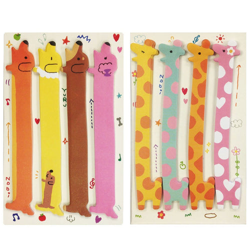 Giraffe & Dachshund Note Tabs Bookmark Flags, set of 2