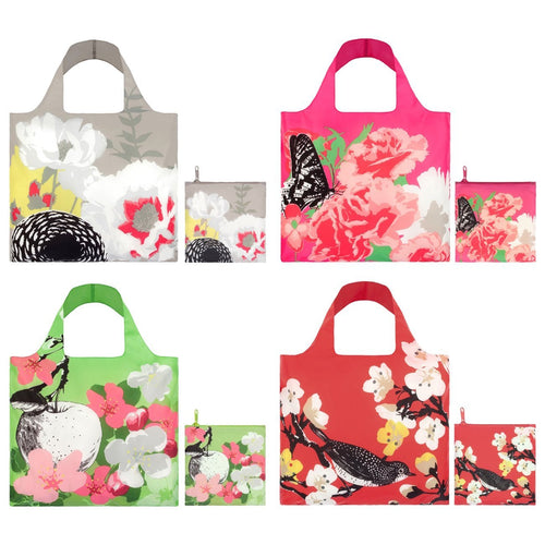 LOQI Prima Collection Pouch Reusable Bags, set of 4