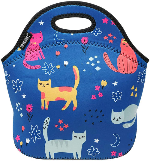 Blue Cats Neoprene Lunch Tote