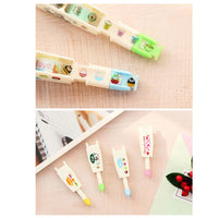 Cafe & Hearts Decorative Correction Tape Pens Novelty Stationery Supply (Pen + 3 Cartridges)