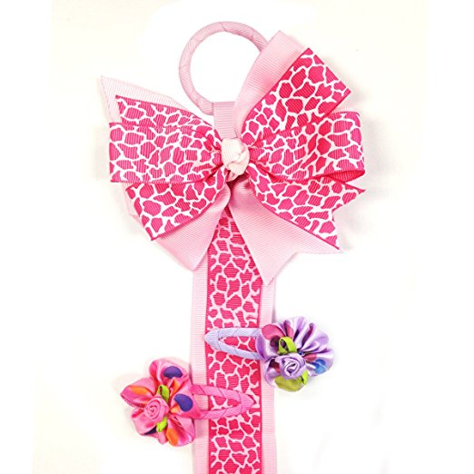 Long Ribbon Hair Clip & Hair Bow Holder