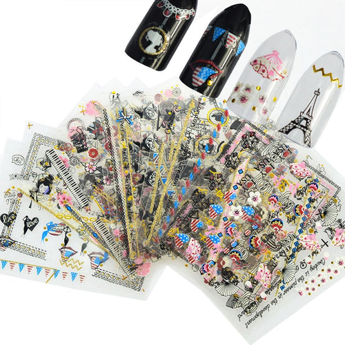 Globetrotter Nail Art Nail Stickers (24 sheets)
