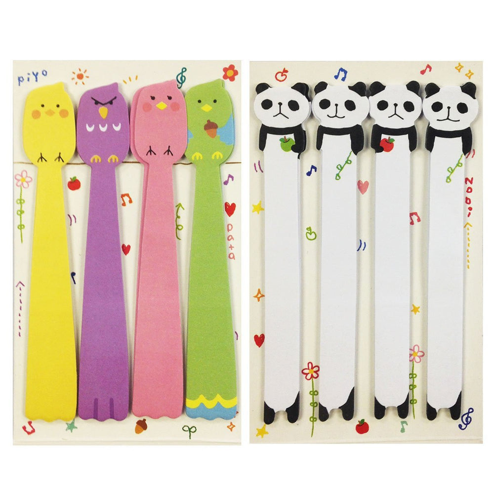 Bird & Panda Note Tabs Bookmark Flags, set of 2