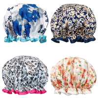 Fancy Shower Caps Bath Caps (4 pack), Spring Flowers
