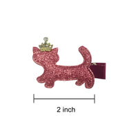Sparkle Kitty Hair Clips (set of 5)