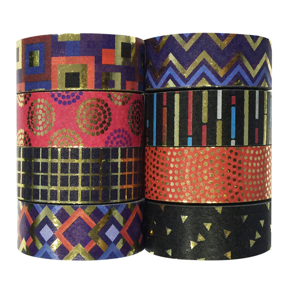 Gold Foil Washi Tapes (set of 8)