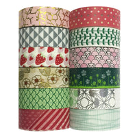 Multi-Patterns Decorative Washi Tapes (set of 12)