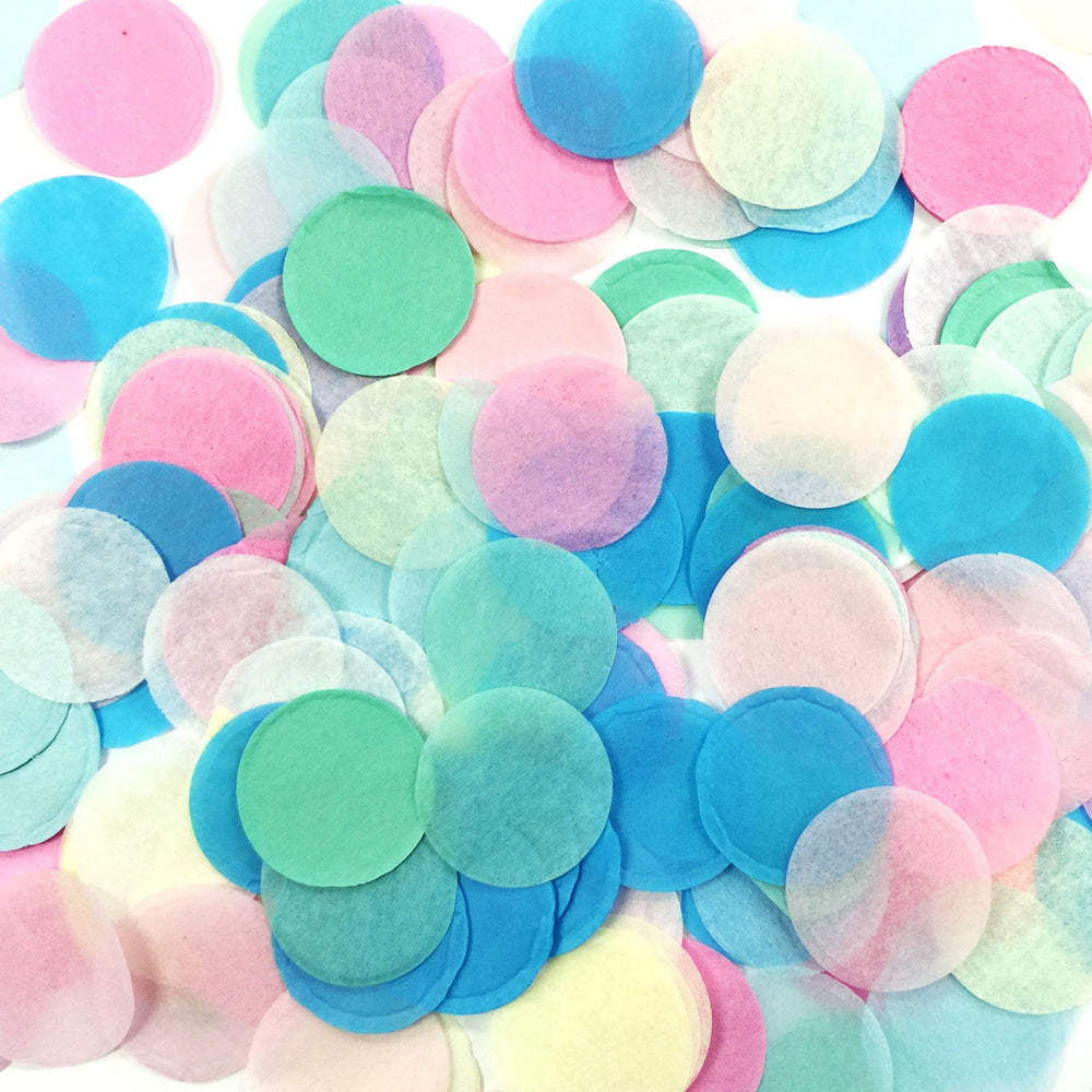 "1"" Round Tissue Paper Confetti (Mix Colors)"