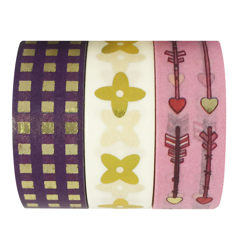 Foolish Love Gold Foil Washi Tapes (set of 3)