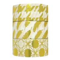 Feathers & Diamonds Gold Foil Washi Tapes (set of 3)