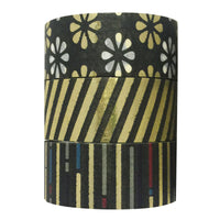 Night Bloom Gold Foil Washi Tapes (set of 3)