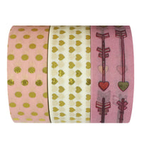 Sweet Love Gold Foil Washi Tapes (set of 3)