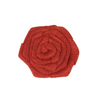 Burlap Rose Blossom Embellishments (set of 12)