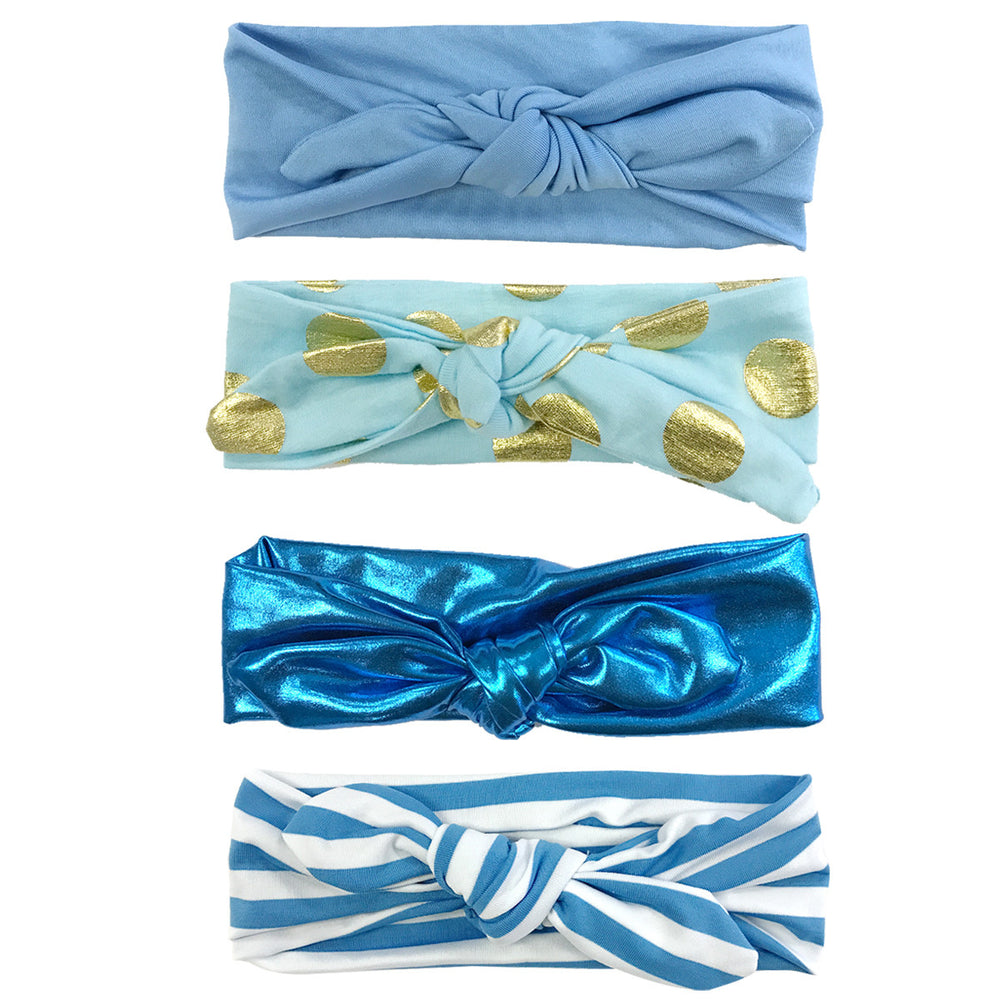 Girls Adjustable Bow Headbands (set of 4)