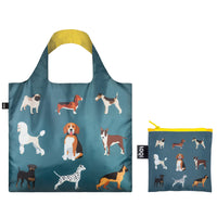 LOQI Cats & Dogs Collection Pouch Reusable Bags, set of 4