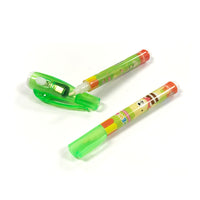 Cartoon Invisible Ink Spy Pen Magic Marker with Built in UV Light (8 Pens & 4 UV Lights)
