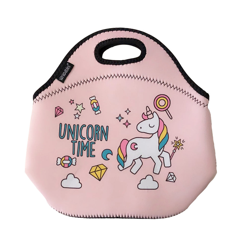 Insulated Neoprene Lunch Bag Zipper Lunch Box Tote Baby Bottle Bag