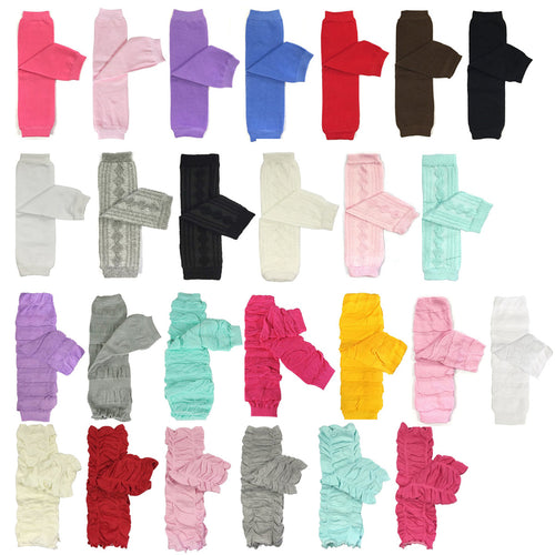 Solid Color Baby Leg Warmers
