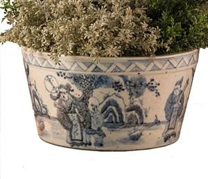 Blue and White Cache Pot - GDH | The decorators department Store
