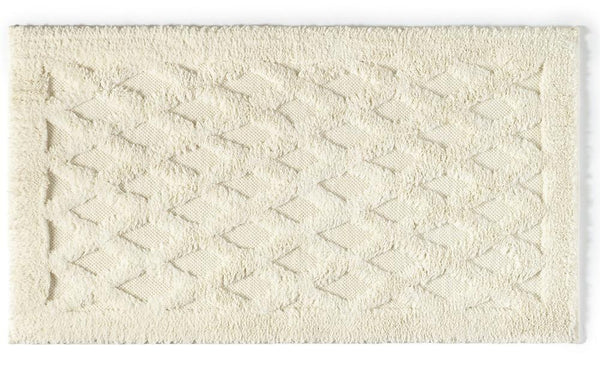 Diamond Bath Rug | Ecru