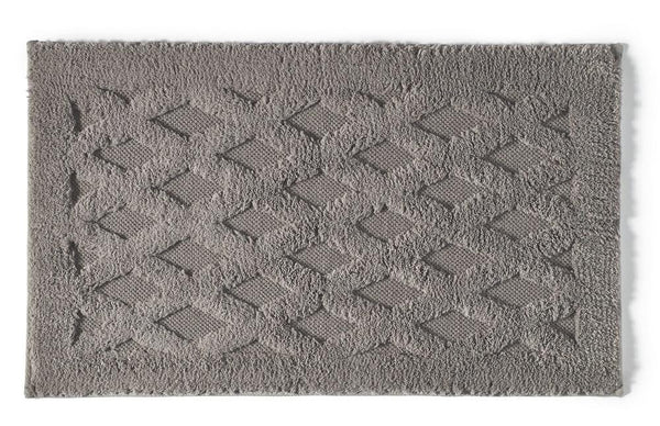 Diamond Bath Rug | Pewter