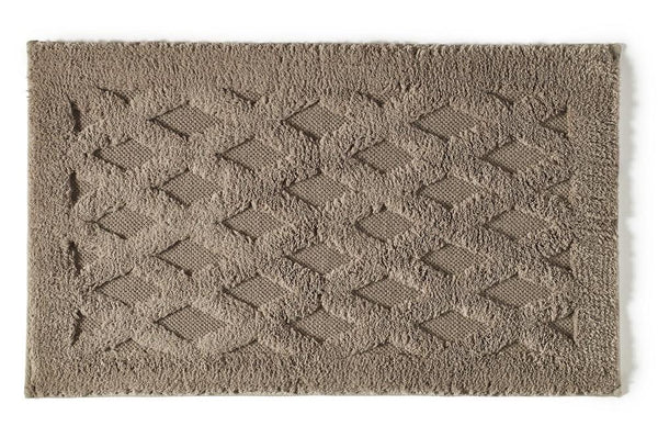 Diamond Bath Rug | Stone
