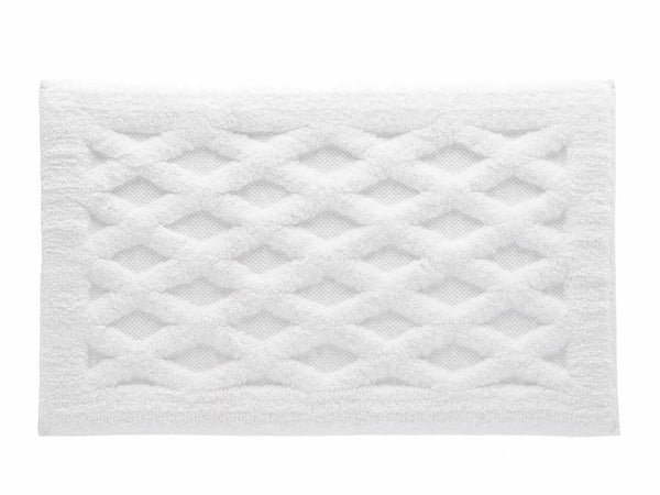 Diamond Bath Rug | White