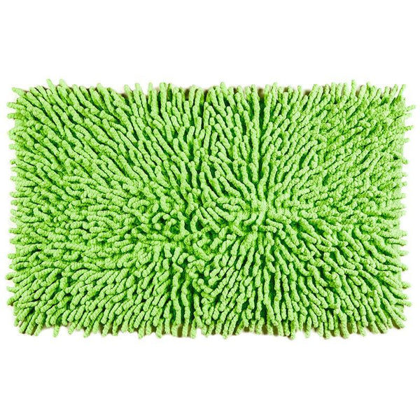 Cotton Chenille Bath Rugs | Green